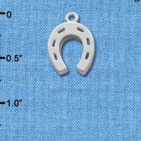 C1013 tlf - Horseshoe - Silver Plated Charm (6 per package)