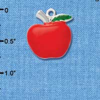 C1044* tlf - Fat Apple - Silver Plated Charm (left & right) (6 per package)