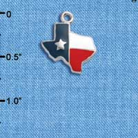 C1065 tlf - Texas Lone Star - Silver Plated Charm (6 per package)