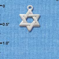 C1242 ctlf - Silver Star Of David - Silver Plated Charm (6 per package)
