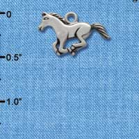 C1454* tlf - Horse Body - Im. Rhodium Plated Charm (left & right) (6 per package)