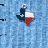 C1461 tlf - Texas Fancy Edging Im. Rhodium Plated Charm (6 per package)
