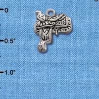C1640 tlf - Saddle - Silver Plated Charm (6 per package)