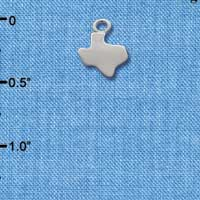 C1649 ctlf - Mini Silver Texas - Silver Plated Charm (6 per package)