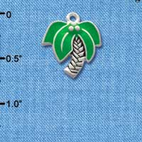 C1901* tlf - Large Palm Tree - Silver Plated Charm (left & right) (6 per package)