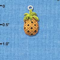 C2531 ctlf - Pineapple - Silver Plated Charm (6 per package)
