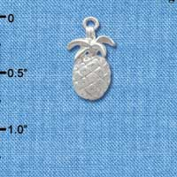 C3417 ctlf - Silver Pineapple - Silver Plated Charm (6 per package)