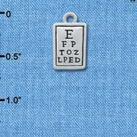 C3647 tlf - Silver Eye Chart - Silver Plated Charm (6 per package)