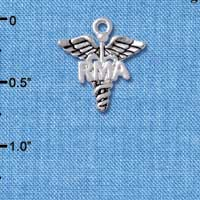 C4950 tlf - Caduceus - RMA - Silver Plated Charm (6 per package)