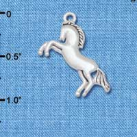 C5710 tlf - Small Running Horse - Silver Plated Charm (6 per package)