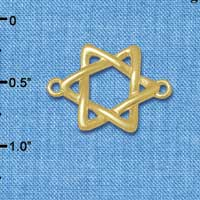 C5888+ tlf - Woven Star of David - Gold Plated Connector (2 per package)