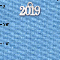 C6150 tlf - Horiztonal Year 2019 - Silver Plated Charm (6 per package)