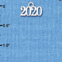C6151 tlf - Horiztonal Year 2020 - Silver Plated Charm (6 per package)