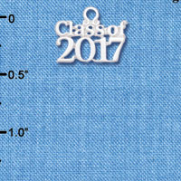 C6256 tlf - Class of 2017 - Silver Plated Charm (6 per package)