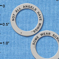 C6329+ tlf - Not All Angels Have Wings, Some Wear Scrubs - Affirmation Ring (6 per package)