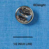 G1214 tlf - Clutch Pin - 12mm Tie Tac Pad & Clutch - Silver tone (100 sets per package)