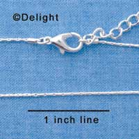 F1306 tlf - Super Mini Snake Chain - Silver Plated Necklace (16