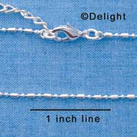 F1310 tlf - Small Bead & Ball Chain - Silver Plated Necklace (16
