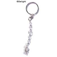 F1315 tlf - Long Clear Glass Keychain (6 per package)