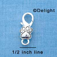 F1359 tlf - Silver Paw - Im. Rhodium Plated Lobster Claw Clasp (6 per package)