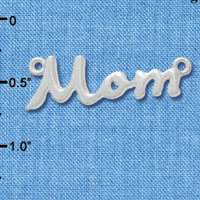 F2064 tlf - Medium Mom Script - Silver Plated Connector (Not for Sale)
