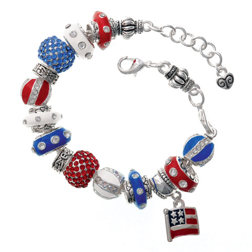 wholesale patriotic charm beads