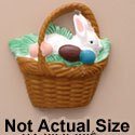 1142 tlf - Bunny In Brown Easter Basket - Resin Decoration (12 per package)
