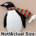 4511 tlf - Penguin Scarf Red Green Matte - Resin Decoration (12 per package)