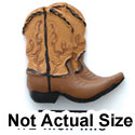 5415 - Cowboy Boots Tan Matte Mini - Resin Decoration (12 per package)